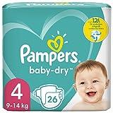 Pampers Baby Dry Größe 4 Windeln, bis zu 12...