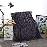 Luxus Wurfdecke Super Soft Fleece Cozy Warm Atmungsfähig Leicht Maschine waschbar Dekorative Wurf für Couch-Bett,Blue purple,180x200cm