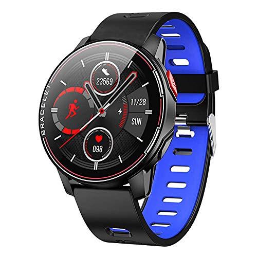 ZHICHUAN Smartwatch Inteligente Reloj L6, 1,3' Táctil Completa Redonda Ip68 a Prueba de Agua Deporte Smartwatch, con el Rastreador de Ejercicios Monitor de Ritmo Cardíaco, para Andr
