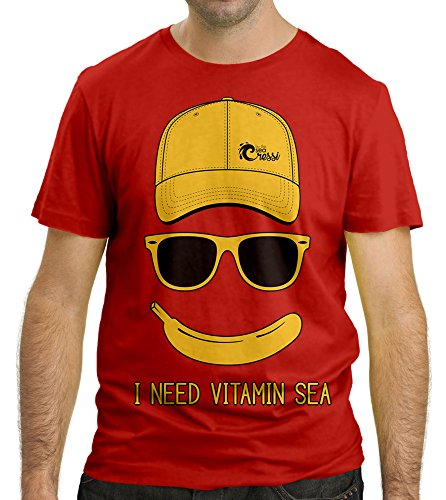 Cressi Sub S.p.A. I NEED VITAMIN SEA T-Shirt Homme Rouge FR: S (Taille Fabricant: S)