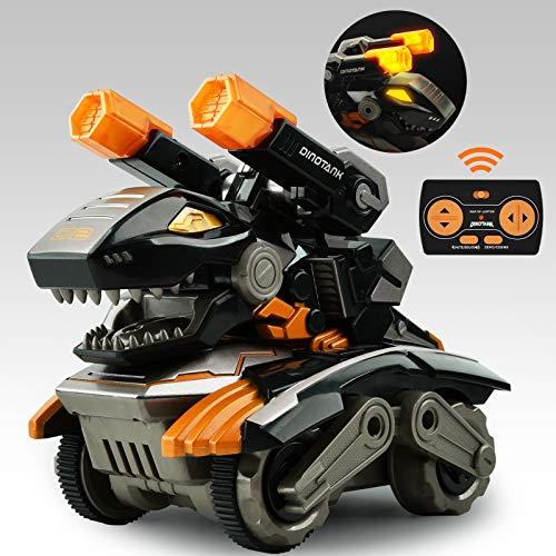 GizmoVine Remote Control Monster Trucks for Boys Dino RC Dinosaur Toys Cars for Kids Dinosaur Birthday Party Supplies Gifts for 3 4 5 6 7 Year Old Boys