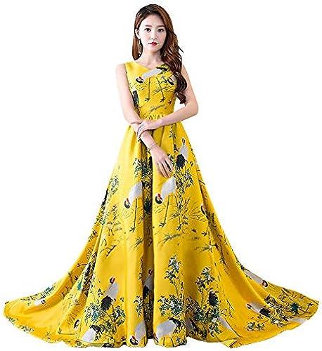 Susichou Qipao Model Catwalk Host Kleid eleganten Langen Abschnitt dünnes Abendkleid Kostüm Langen Schwanz Rock Cheongsam Kleid