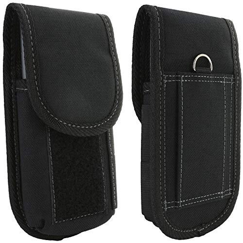 XiRRiX Handy Gürteltasche V7 - Smartphone Tasche passend für Apple iPhone 12 Mini/SE 2020 / Doro 8040 / Emporia Smart 3/3 Mini/Samsung Galaxy A41 / Xcover 4s - Gürtel Handytasche schwarz