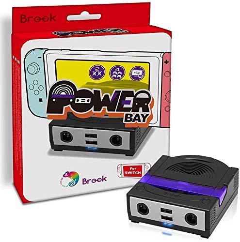 Switch Docking- & Ladestation für 2 Bluetooth Headsets, 4 Controller (2x Switch, 2x GameCube) mit HDMI Ausgang, schwarz-violett (PowerBay Bluetooth)