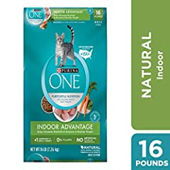 16 pounds Bag Purina 1 Indoor Advantage Adult Dry Cat Food Made With Real Turkey As The Number 1 Ingredient Natural With Added Vitamins, Minerals And Essential Nutrients Helps Minimize Hairballs And Maintain A Healthy Weight Contains Omega 6 To Help ...