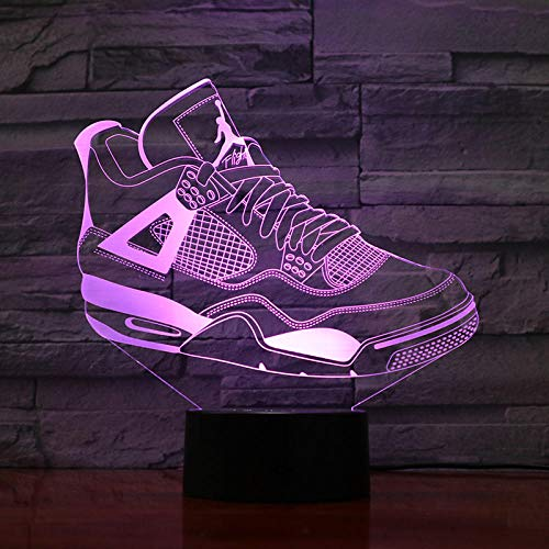 3D-Illusionslampe Farbwechsel Acryl LED Nachtlicht Kunst Skulptur Lichter Dekoration USB-Ladegerät Ziemlich cool Spielzeug Geschenke Geburtstag, Valentinstag, Sportschuhe