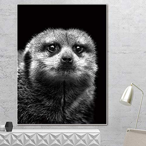 yaoxingfu Sin Marco Art Canvas ng Pictures Abstract ng Art Print Animal on Canvas Wall Poster ng decoración del hogar para Sala de Estar 40x60cm