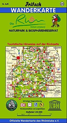 Fritsch Karten, Nr.68, Naturpark Rhön (Fritsch Wanderkarten 1:50000)