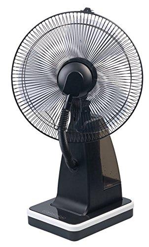 Sichler Haushaltsgeräte Ventilator Wasser: Tisch-Ventilator mit Ultraschall-Sprühnebel und Fernbedienung, 80 Watt (Tischventilator mit Fernbedienung)
