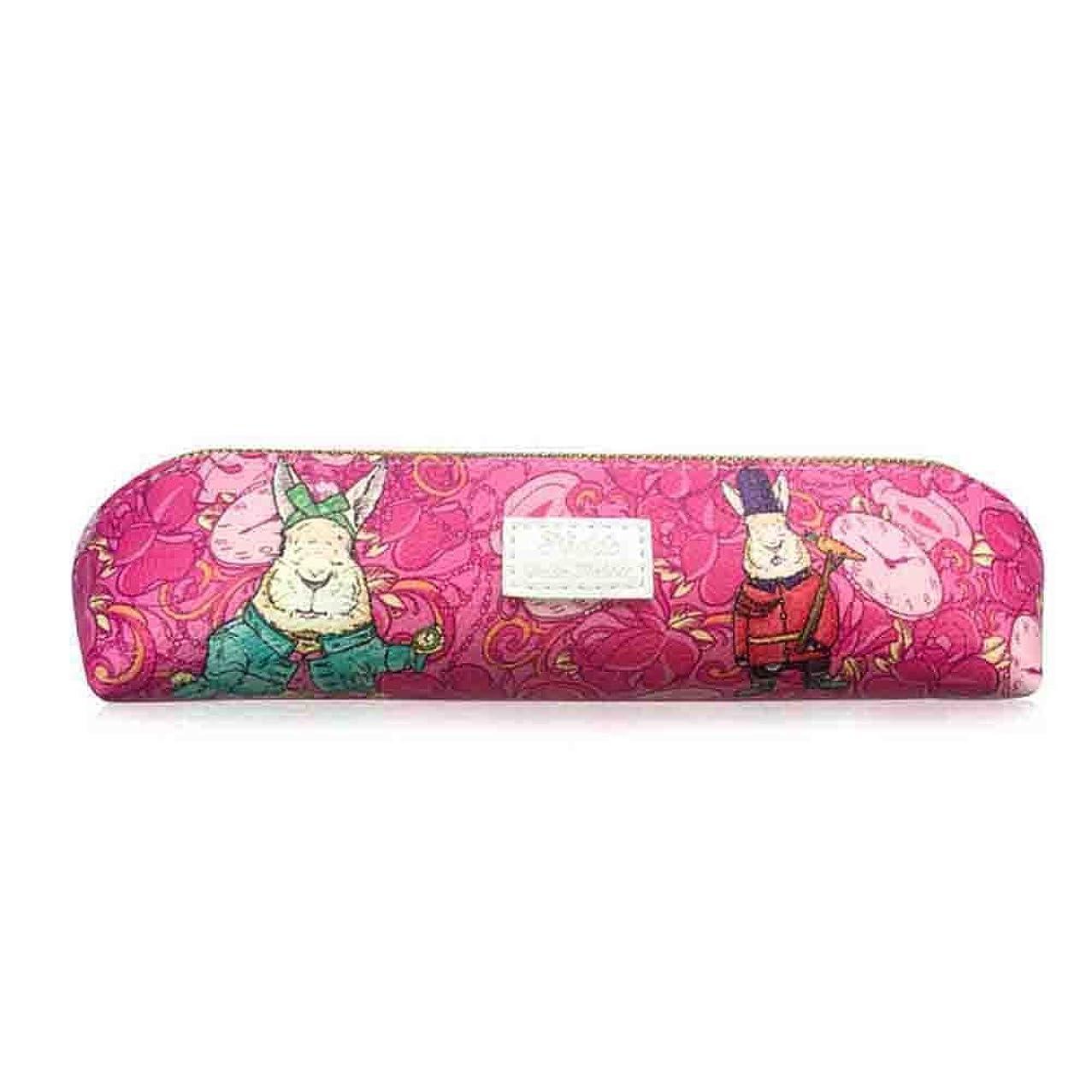 Labon's Pen Pencil Organizer Case Stationery Pouch Bag Coin Purse Pouch Case Cosmetic Makeup Bag (Pink Rabbit)