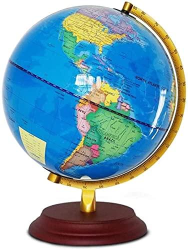 Globos para niños, niños iluminadosGlobo con Soporte: Juguete Educativo de Aprendizaje con Mapa del Mundo detallado y luz Nocturna LED