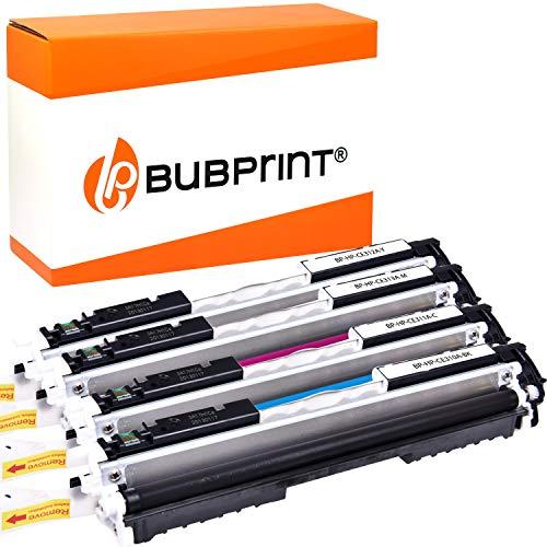 4 Bubprint Toner kompatibel für HP 126A CE310A CE311A CE312A CE313A für Color LaserJet Pro CP1025 CP1025NW CP1020 100 Color MFP M175nw M175a M275 M275nw Multipack