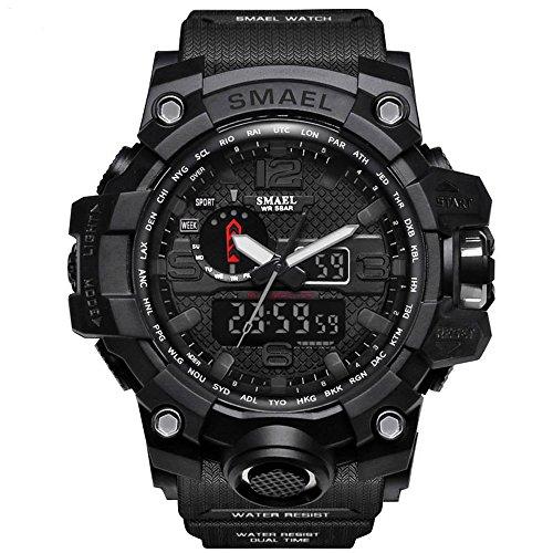 Richermall Men's Sports Analog Quartz Watch Dual Display Waterproof Digital Watches with LED...