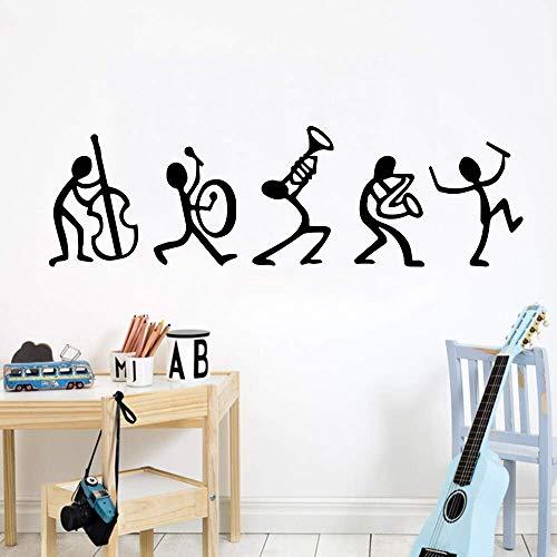 Muziek Vinyl Muursticker Decoratie Artiest Woonkamer Baby Kamer Decoratie Muursticker Poster Decal Jazz Saxofoon Concert Hall 57X20CM