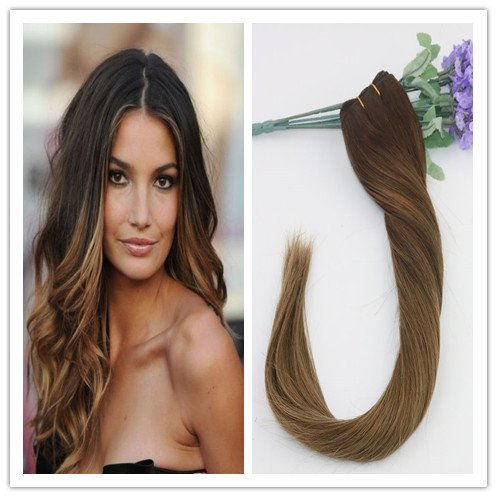 Lot de 7 extensions de cheveux raides 100 % cheveux humains Remay 120 g par lot de 50,8 cm à clipser Couleur marron 2#