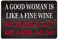 飲むのが好きないい女 金属板ブリキ看板警告サイン注意サイン表示パネル情報サイン金属安全サイン