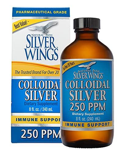 Natural Path Silver Wings Colloidal Silver 250PPM, 8 fl. oz. Cap TOP