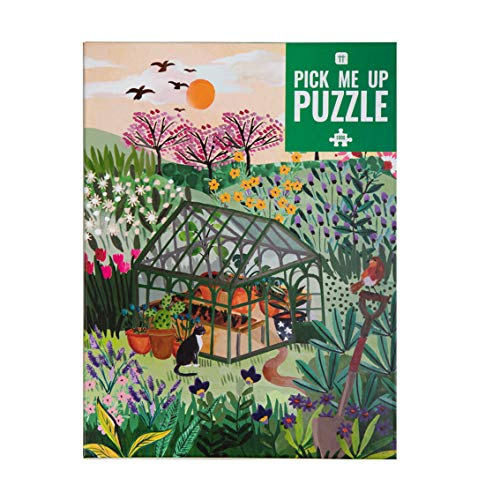 Puzzle da giardino da 1000 pezzi - con poster abbinato e foglio delle curiosità |Design illustrato colorato, fiori britannici, regalo di compleanno, regali per giardinieri, arte della parete