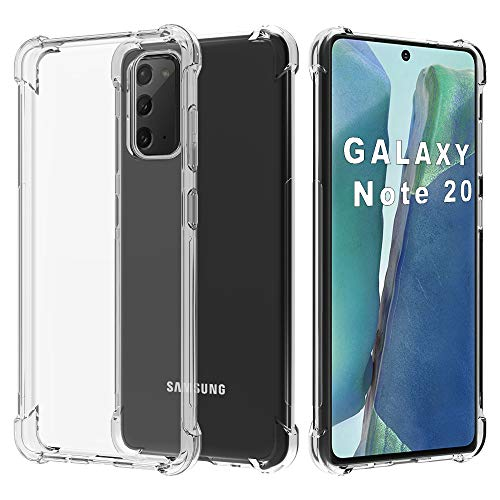 Migeec Funda para Samsung Galaxy Note 20 Suave TPU Gel Carcasa Anti-Choques Anti-Arañazos Protección a Bordes y Cámara Premiun Carcasa para Samsung Galaxy Note 20 5G - Transparente