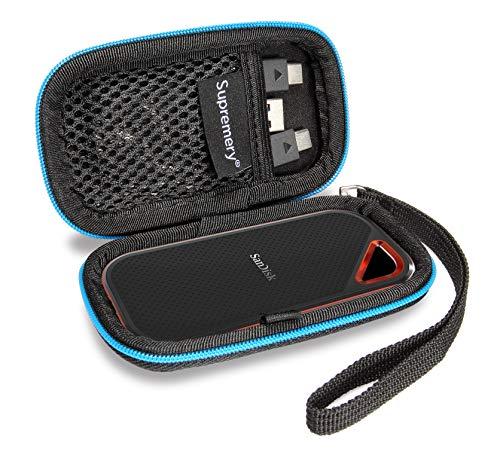 Supremery Case für für Sandisk Extreme PRO Portable SSD 500GB 1TB 2TB 250GB Externe Festplatte Case Schutz-Hülle Tasche Festplattentasche