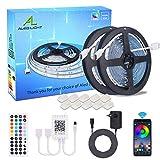 Tira de LED Bluetooth 10m(2x 5m), ALED LIGHT 5050 SMD 300 LED RGB Tira LED con Mando a Distancia de 44 Teclas, Fuente de...