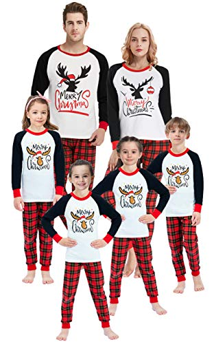 Family Matching Pajamas for Girls Boys Christmas Deer Sleepwear Baby Clothes 7 Years