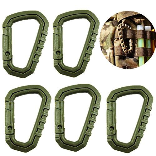 TIANOR 5 Stück Grimloc Karabiner für Taktische Rucksäcke und Taschen Befestigung von Ausrüstung Zubehör