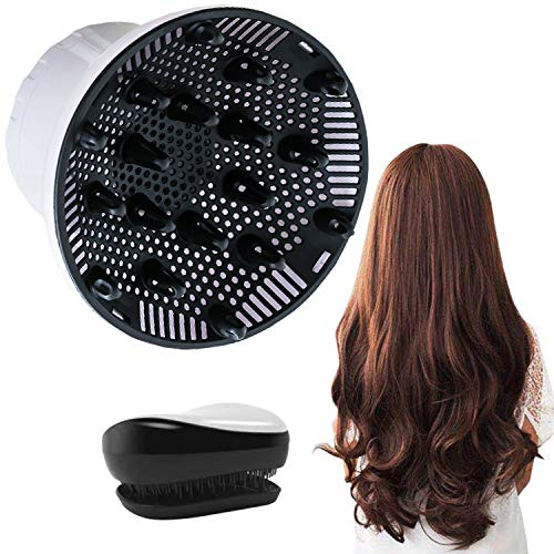 SNAHIKE Hair Diffuser for 1.4-inch to 2.6-inch Hairdryer