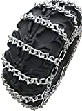 TireChain.com 24X9X11 25X10X12 24X11X10 24X11X9 25X8X12 24x11x11 24x11x12 25x10x11 25x11x9 25x11x12 26x9x12 26x9x14 26x10x12 26x10x14 ATV UTV 2 Link V Bar Tire Chains Set of 2