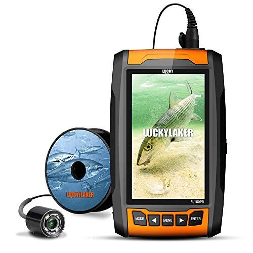 LUCKYLAKER 水中カメラ 魚群探知機 ポータブル 魚探 ぎょたん探知機 魚群探知機 ワカサギ バス 釣り