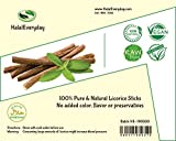 African Chew Sticks - Natural Licorice Root Sticks -1/2 Lb Approximately 20-30 Sticks - Individual Sticks are Approximately 6 inches Long - All Natural, Vegan, Halal