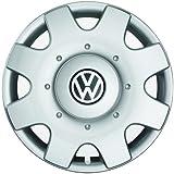 Original Volkswagen Tapacubos (4unidades) Juego completo de 16pulgadas tapacubos Golf Touran Jetta Sportsvan Caddy Llantas de Acero tapas protectora cromo plata 1t0071456a