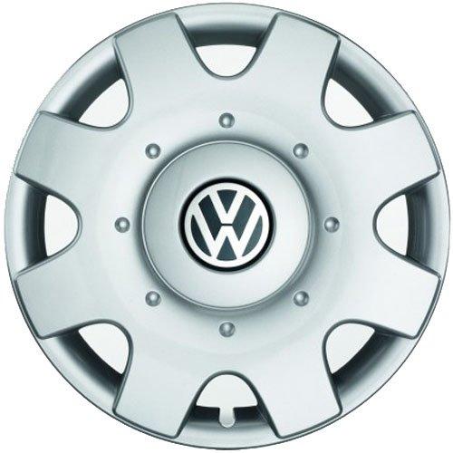 Originele VW wieldoppen (4 stuks) complete set 16 inch wieldoppen Golf Touran Jetta Sportsvan Caddy stalen velgen doppen afdekking chroom zilver 1T0071456A