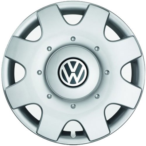 Volkswagen Original Tapacubos (4Unidades) Juego Completo de 16Pulgadas tapacubos Golf Touran Jetta Sportsvan Caddy Llantas de Acero Tapas Protectora Cromo Plata 1t0071456a