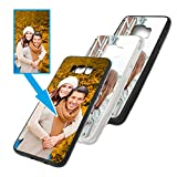 PixiPrints Foto-Handyhülle mit eigenem Bild kompatibel mit Samsung Galaxy A20e, Hülle: TPU-Silikon in Transparent, personalisiertes Premium-Hülle selbst gestalten mit flexiblem Druck