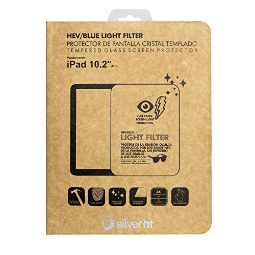 Silver HT - Blue Light Screen Protector for iPad 2019 and 2020 10.2 inch,...