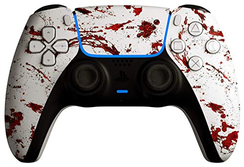 AimControllers PS5 Custom DualSense Wireless Controller, PlayStation 5 Personalized Gamepad - Dexter