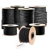 Seilwerk STANKE Polypropylen Seil geflochten PP Seil Polypropylenseil SCHWARZ Festmacher Flechtleine Tauwerk Tau Reepschnur, 2mm, 10m