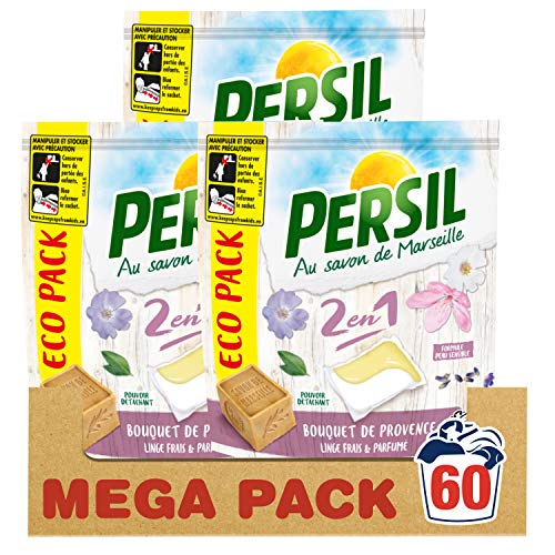 Persil Waschmittel Kapseln 2 in 1 Bouquet de Provence Eco Pack 20 Waschgänge, 3 Packungen