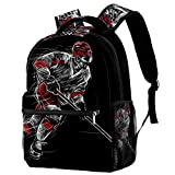 School Bag Ice hockey (2) Backpack For Primary/Middle/College