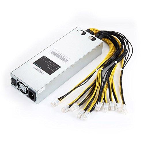 Espeedy Fuente de alimentación minera,La fuente de alimentación minera 1600W APW3 se adapta a Antminer Miner S9 S7 L3 + D3