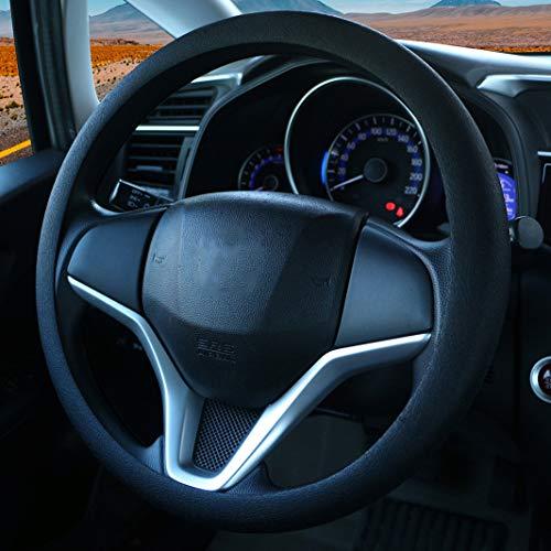 SEG Direct Pelle Microfibra Blu Coprivolante Copertura Volante Per Prius Civic 35.5-36 cm