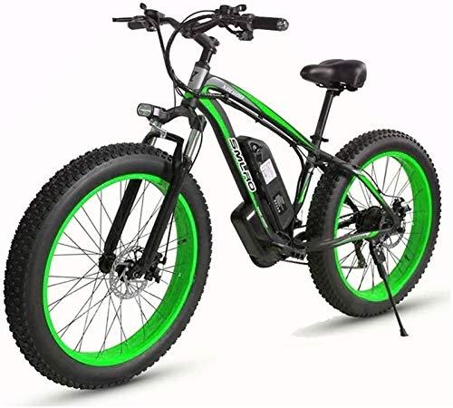 Bicicletas Eléctricas, Eléctrica de 48 V de bicicletas 27 Velocidad del freno de disco de la batería de litio 15AH de aleación de aluminio de 26' 4.0 rueda ancha de motos de nieve adecuados for los de