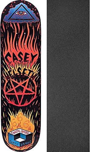Consolidated Casey Helseth Hellfire Skateboard-Brett/Deck, 20,32 x 81,3 cm, mit Grifflochband, Schwarz, 2 Stück