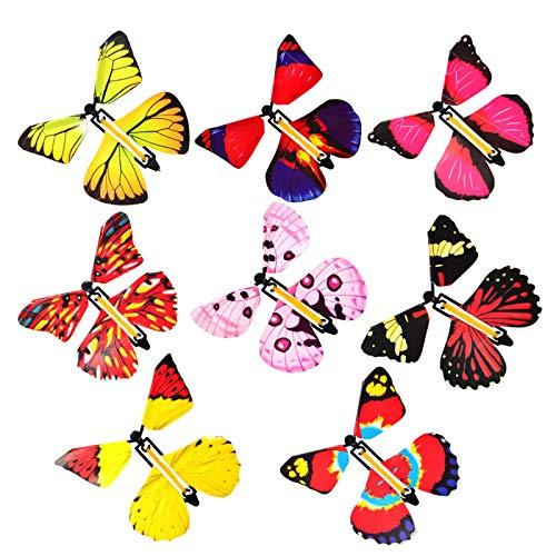 Kreatives Spielzeug, magische Fee fliegt im Buch, Schmetterling, Gummiband, zum Aufziehen, Schmetterling, tolles Überraschungsspielzeug, Geburtstagsgeschenk, 8 Stück
