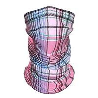 ピンクのチェック ネックゲートル 夏 防風 冷感uvカット 防塵 紫外線対策 日焼け防止 吸汗速乾 通気性に優れ メンズ レディース 男女兼用