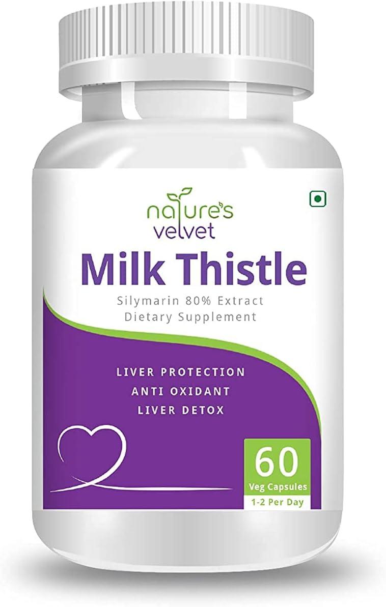 Max 49% OFF Polet Nature's Velvet Milk Thistle Extract mart - Pure Silymarin 80%