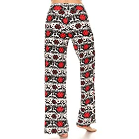 Leggings Depot PJ10-S648-L Reindeer Cheer Print Pajama Pants, Large