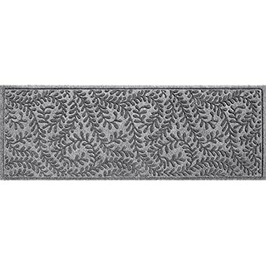 Bungalow Flooring Waterhog Indoor/Outdoor Runner Rug, 22  x 60 , Skid Resistant, Easy to Clean, Catches Water and Debris, Boxwood Collection, Medium Grey