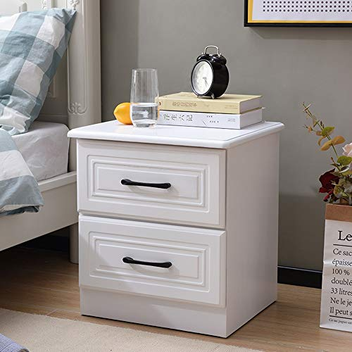 Table pliante YANFEI, Table de Chevet Tout en Bois Solide, Blanc 45 * 40 * 50cm de Meuble de Rangement de tiroir de Chevet de Cabinet de Peinture (Couleur : A)